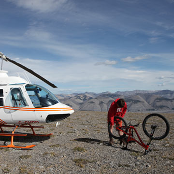 Heli Biking - Nahanni Heli Hiking, Biking & Camping Adventures | Northwest Territories, Canada North